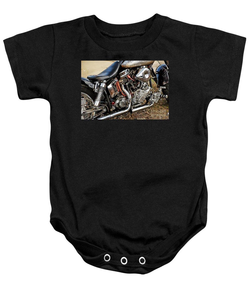 Harley Davidson Baby Onesie featuring the photograph Its All Good by Tony Bazidlo