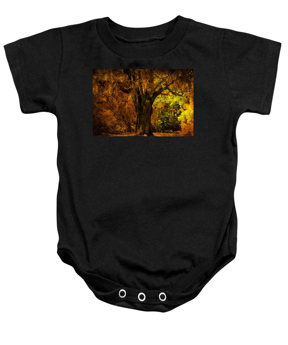 Old Tree Baby Onesie featuring the photograph It's not the Angel Oak by Susanne Van Hulst