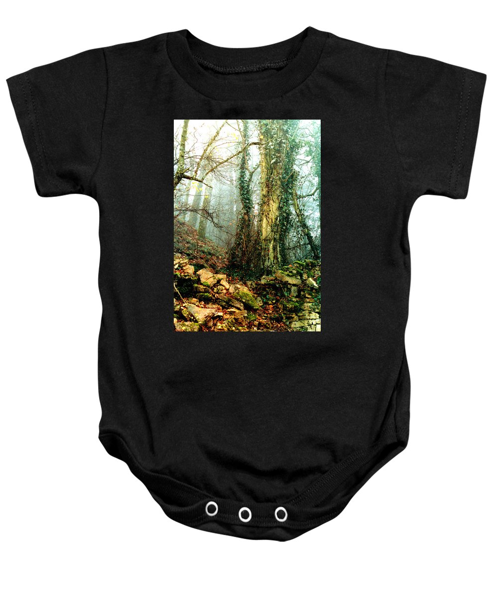 Ivy Baby Onesie featuring the photograph Ivy in the Woods by Nancy Mueller