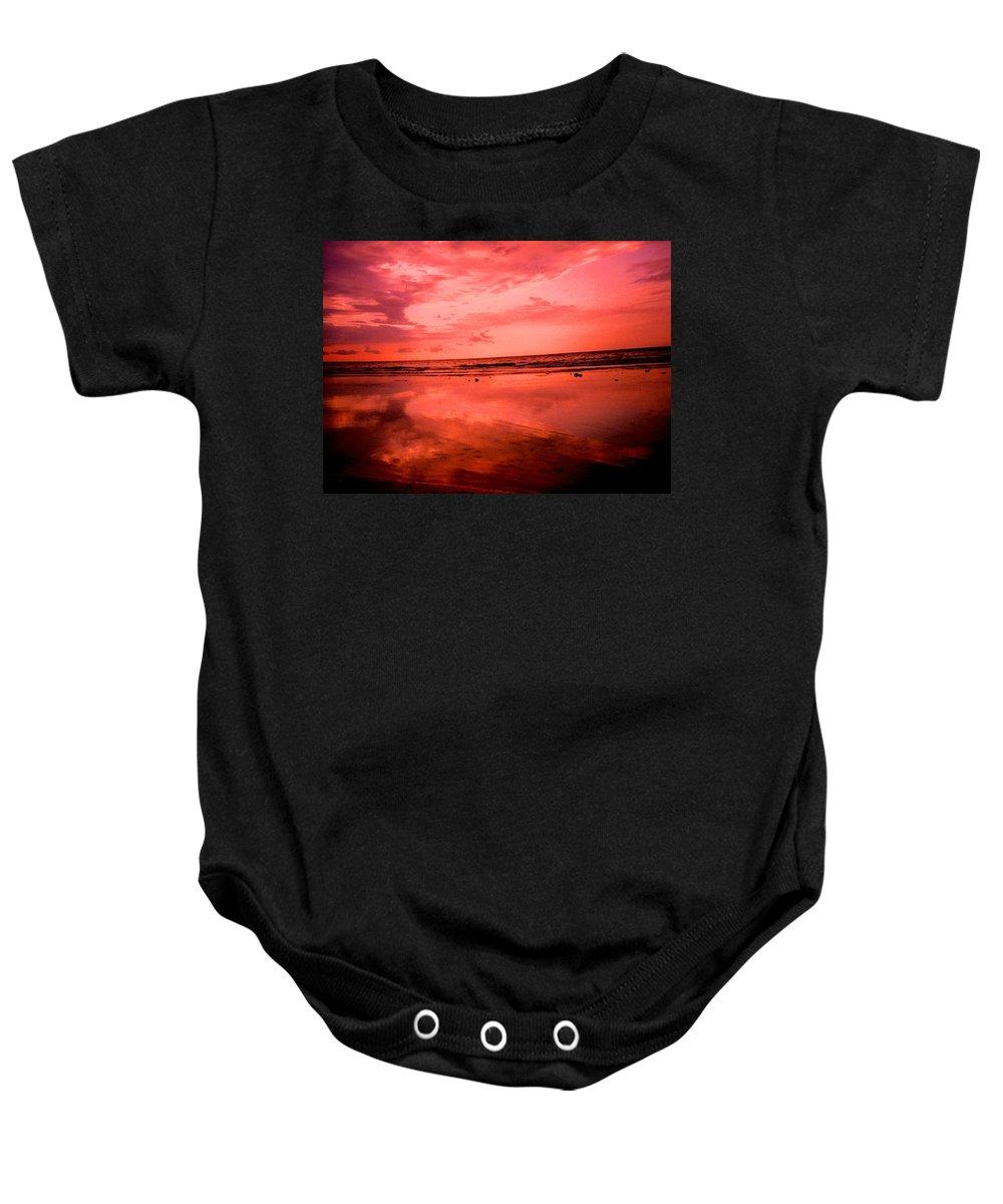 Sunset Baby Onesie featuring the photograph Jamaica Sunset by Ian MacDonald