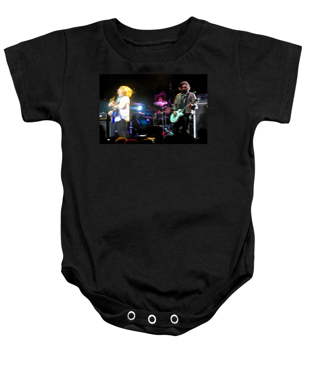 Rock And Roll Baby Onesie featuring the painting Jammin by David Lee Thompson