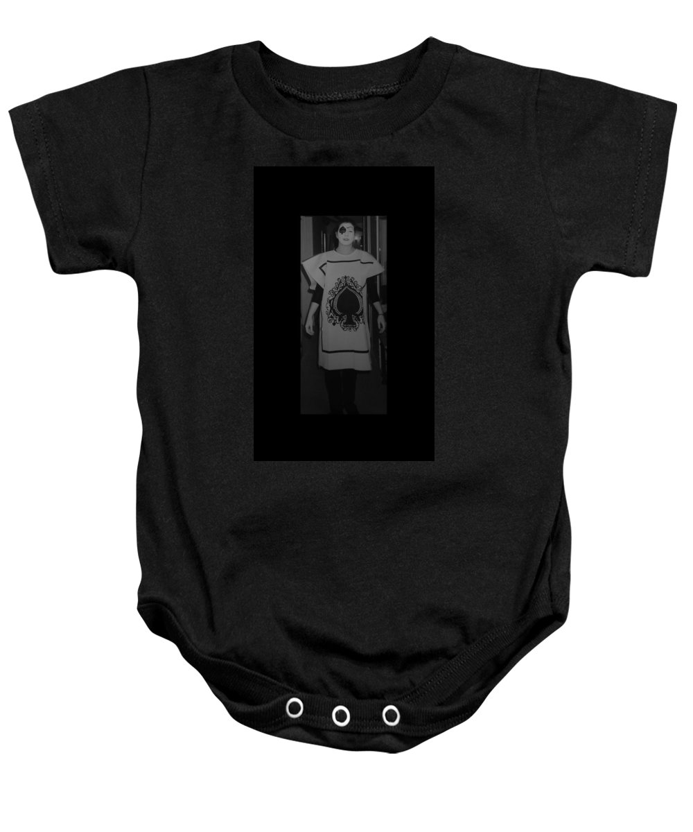 Ace Of Spades Baby Onesie featuring the photograph Jen Of Spades by Rob Hans