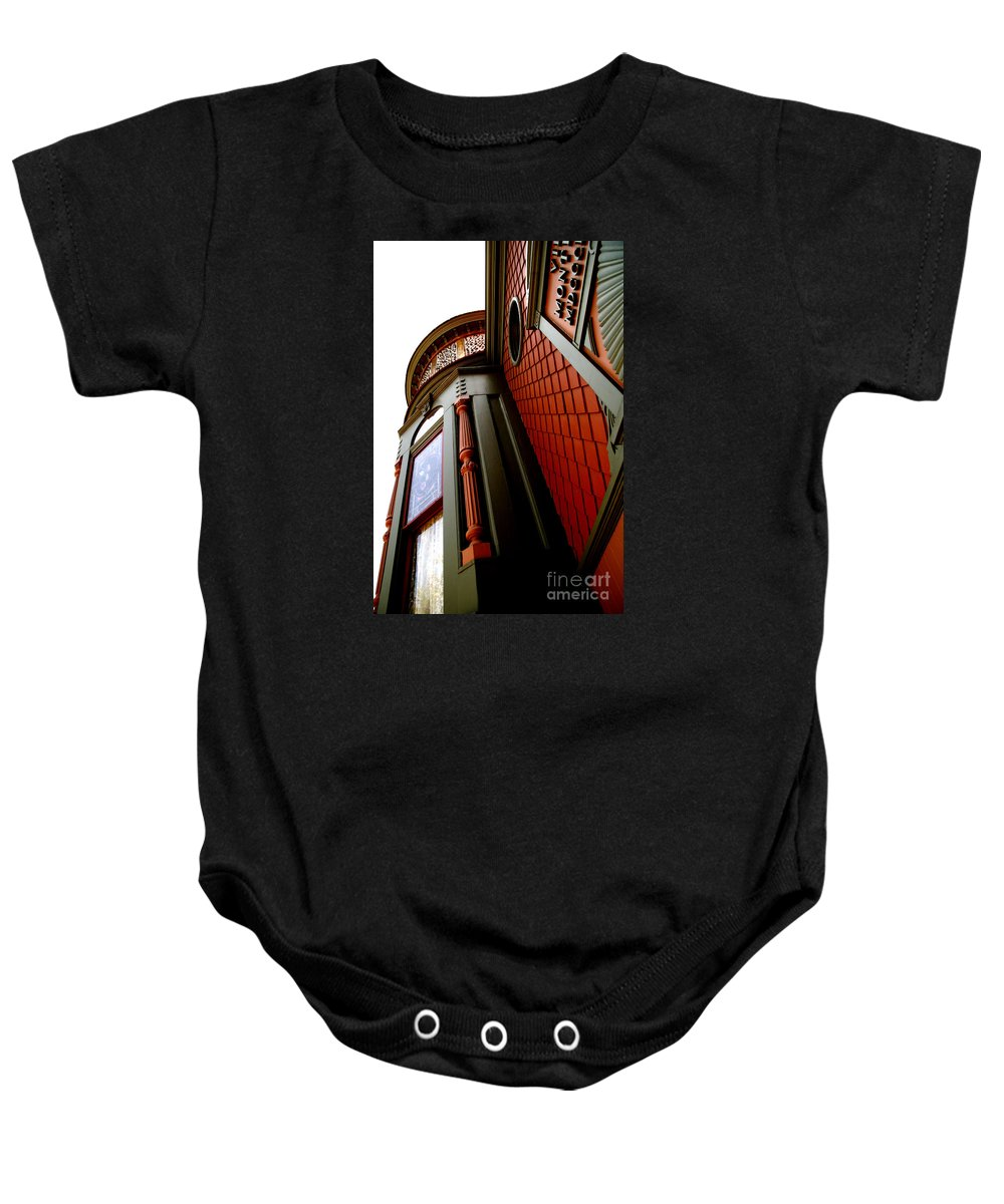House Baby Onesie featuring the photograph Jesse's Home by Linda Shafer