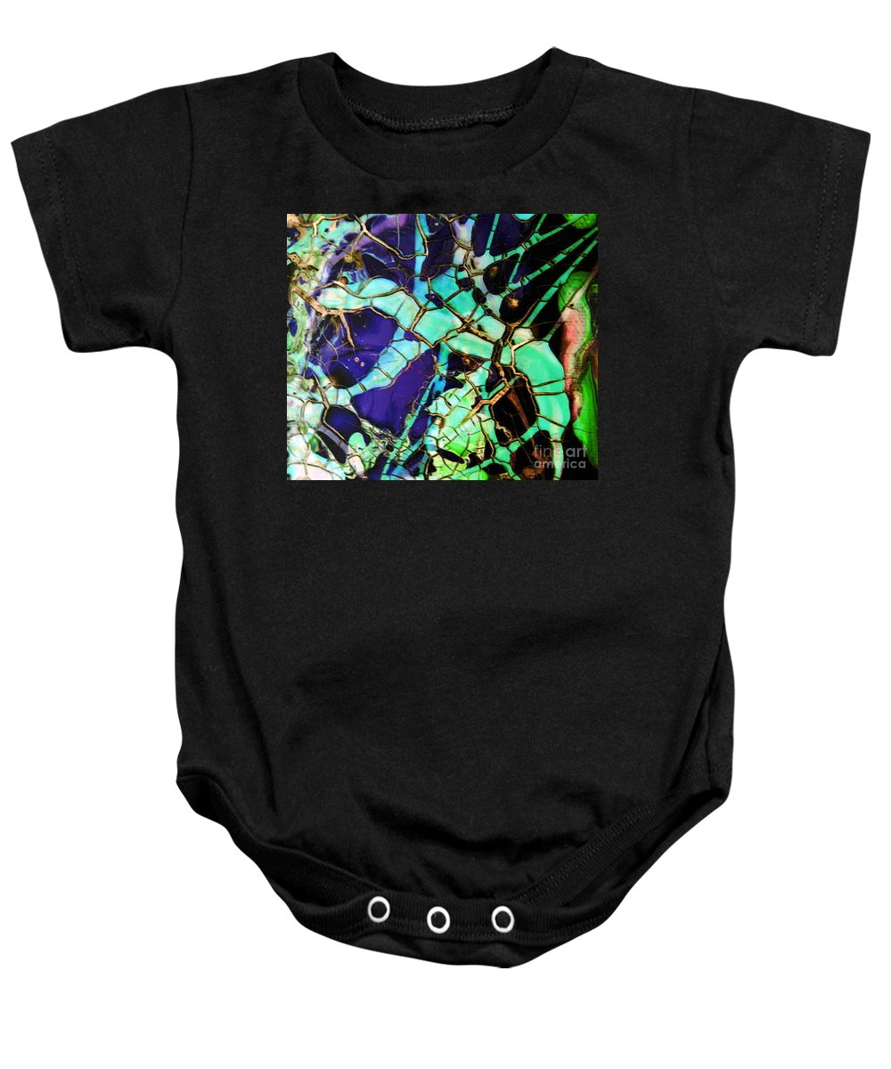 Jewels Baby Onesie featuring the painting Jewels by Dawn Hough Sebaugh