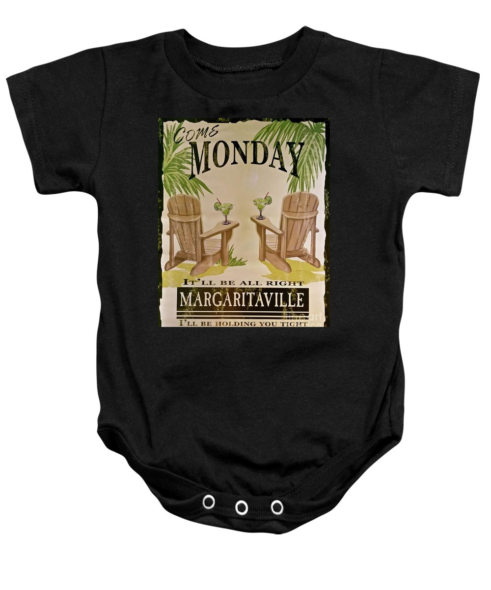 Jimmy Buffett Come Monday Baby Onesie