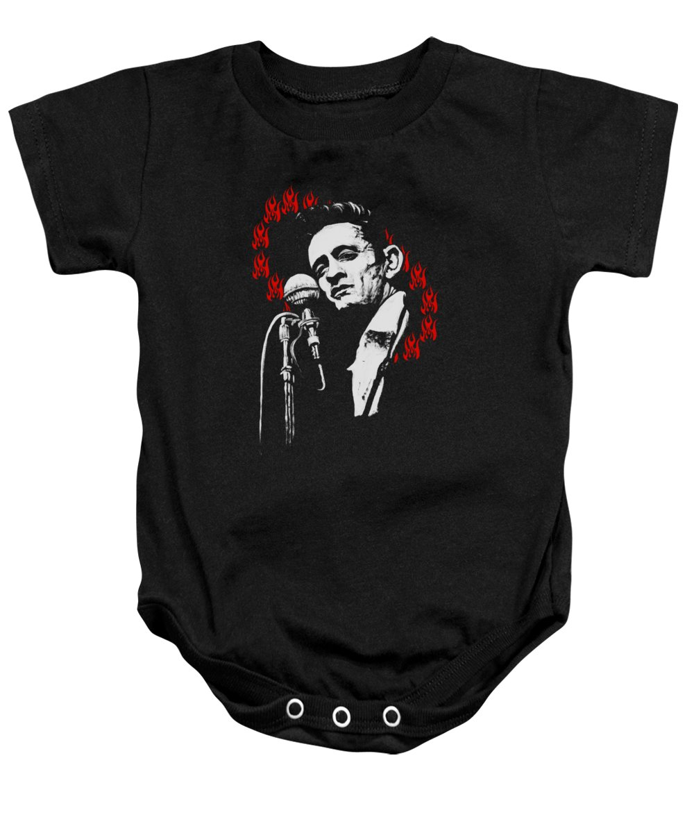 Johnny Cash Baby Onesies