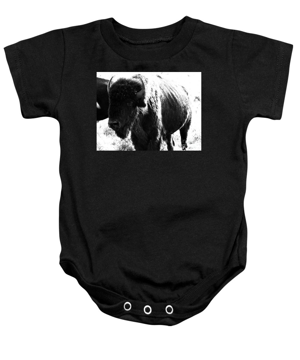 Buffalo Baby Onesie featuring the photograph Join The Party by Amanda Barcon