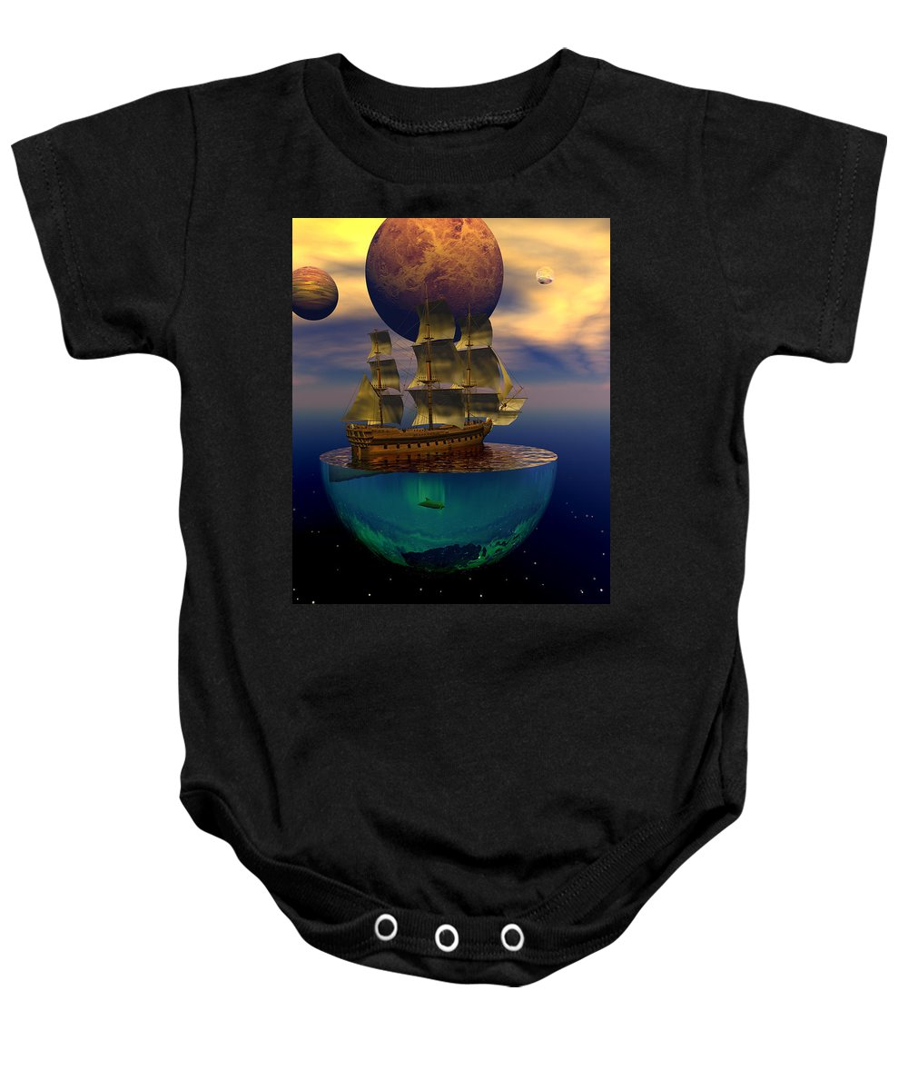 Bryce Baby Onesie featuring the digital art Journey Into Imagination by Claude McCoy