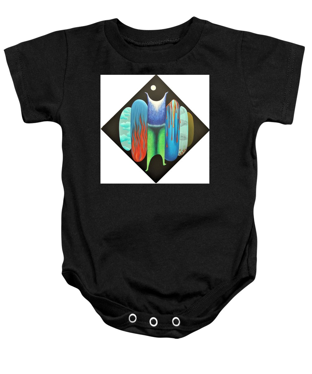 Romantic Baby Onesie featuring the painting Journy- 15 by Raju Bose