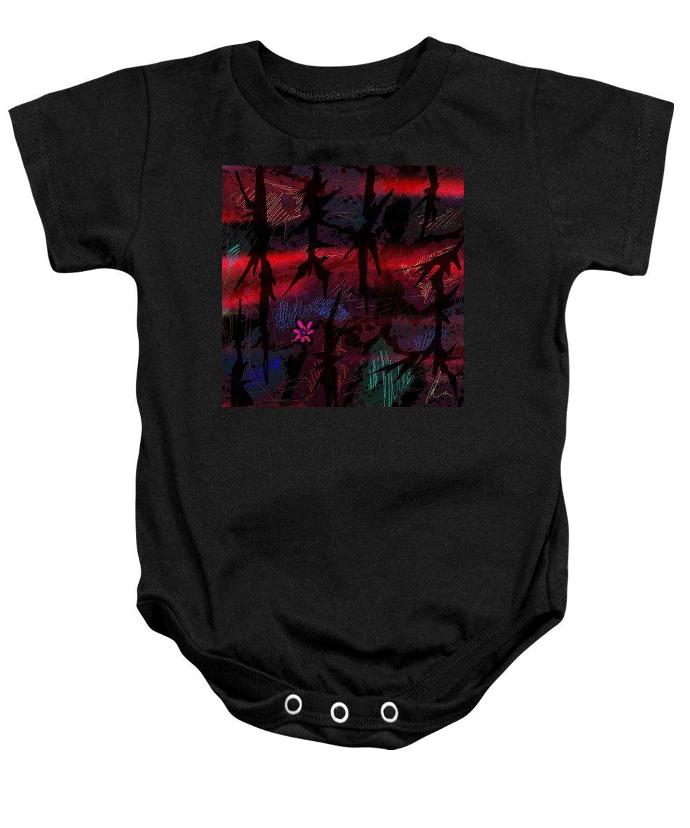 Abstract Baby Onesie featuring the digital art Joy In Tears by Rachel Christine Nowicki