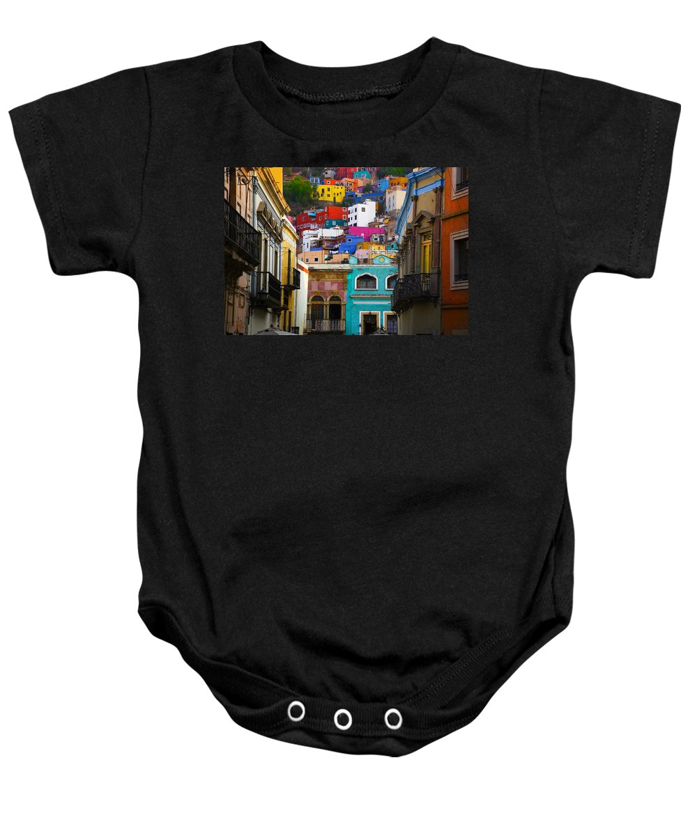 Architecture Baby Onesie featuring the photograph Juegos In Guanajuato by Skip Hunt