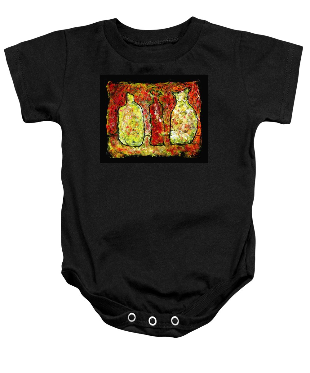 Jugs Baby Onesie featuring the painting Jugs by Wayne Potrafka