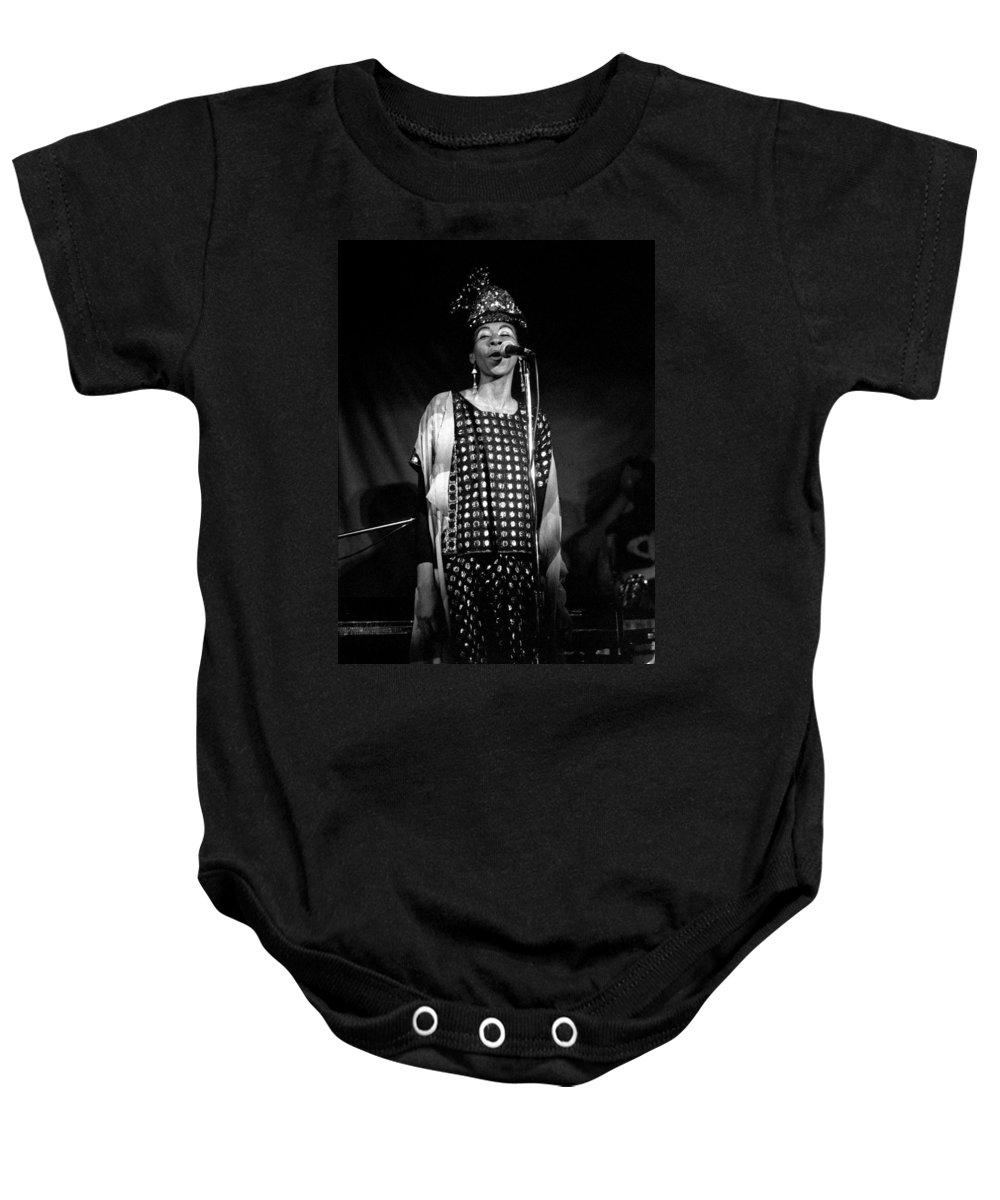 June Tyson Baby Onesie featuring the photograph June Tyson by Lee Santa