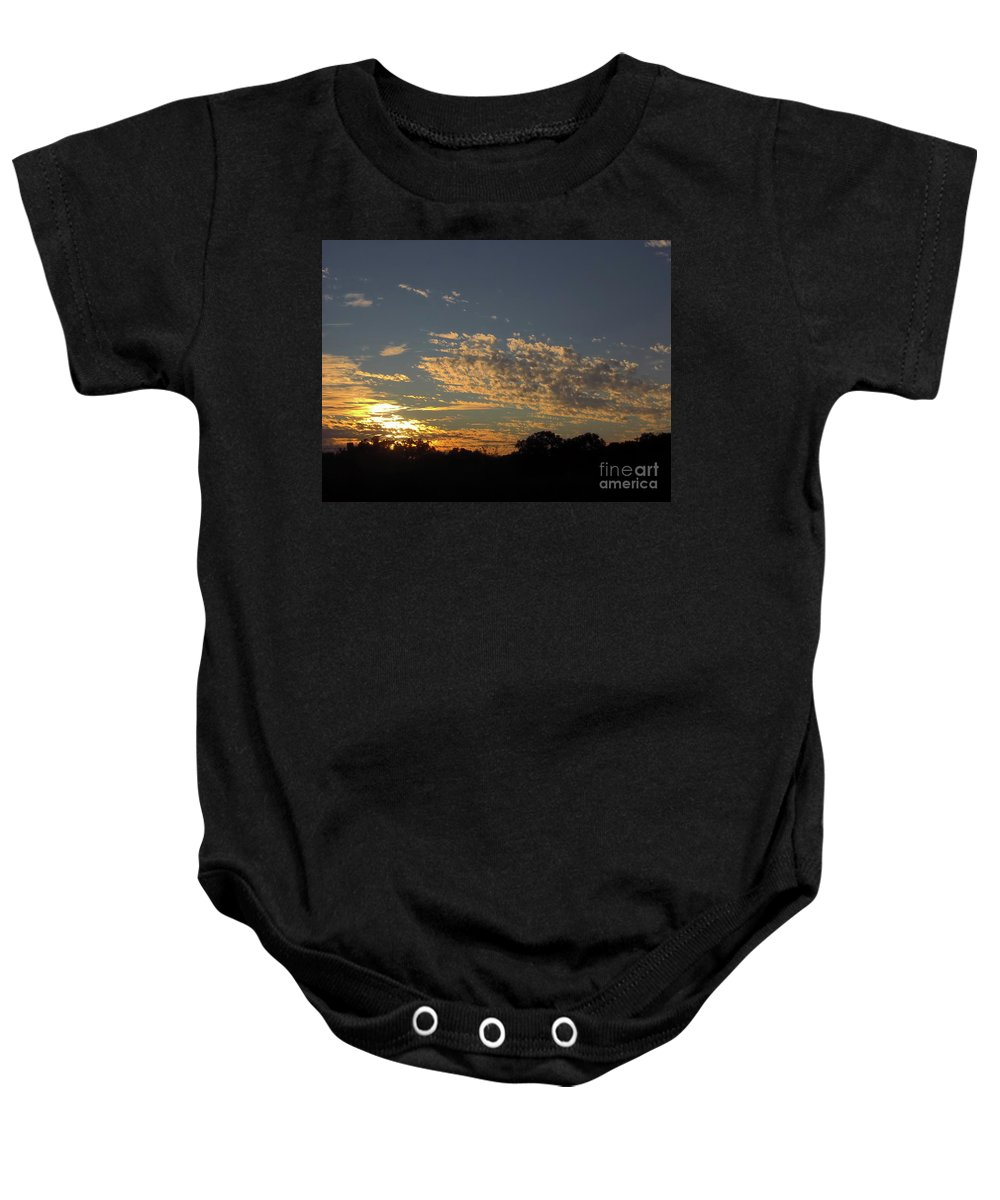 Sunset Baby Onesie featuring the photograph Just Before Sunset by D Hackett