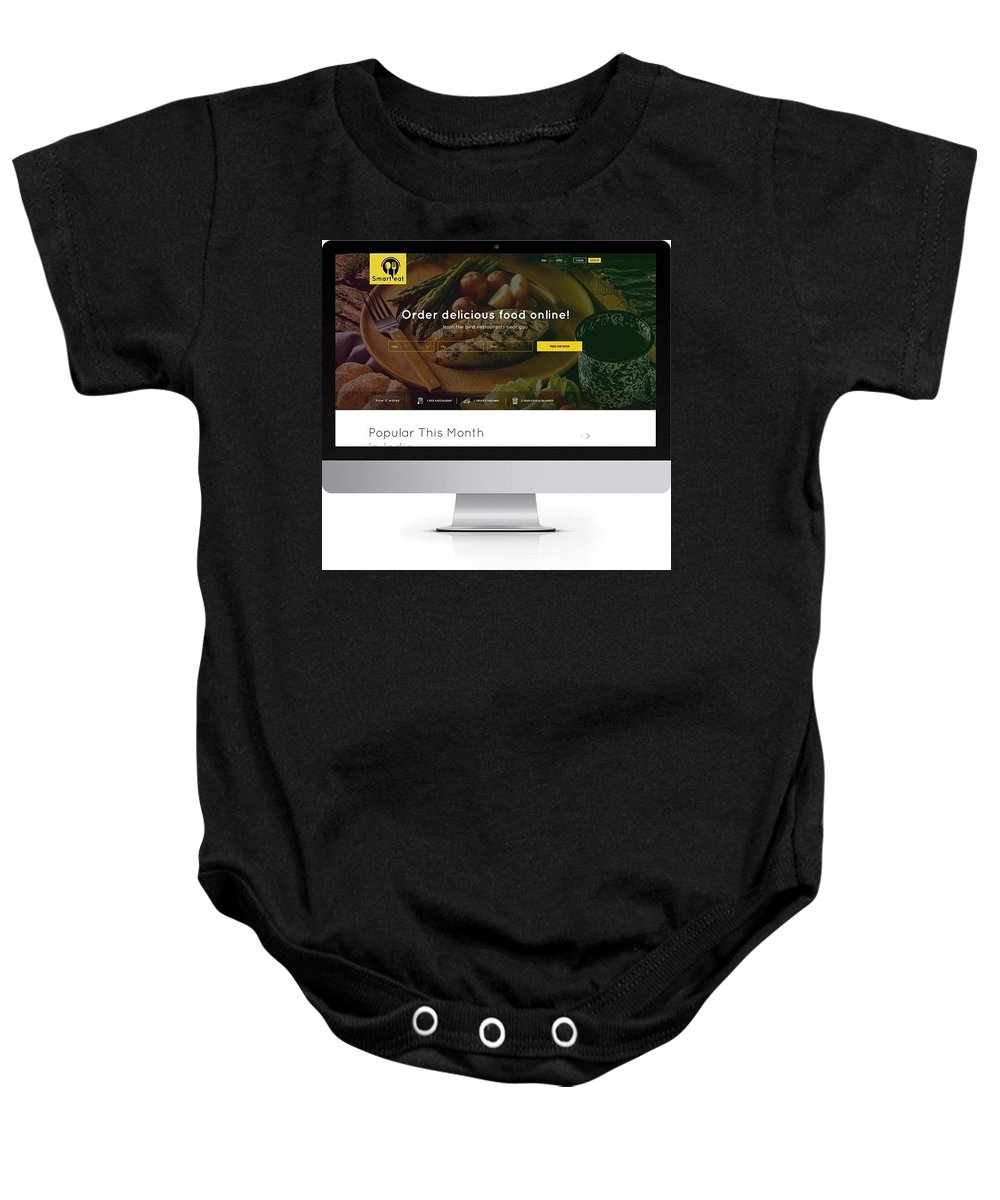 Just Eat Clone Script Baby Onesie featuring the photograph Just Eat Clone Script by App Kodes