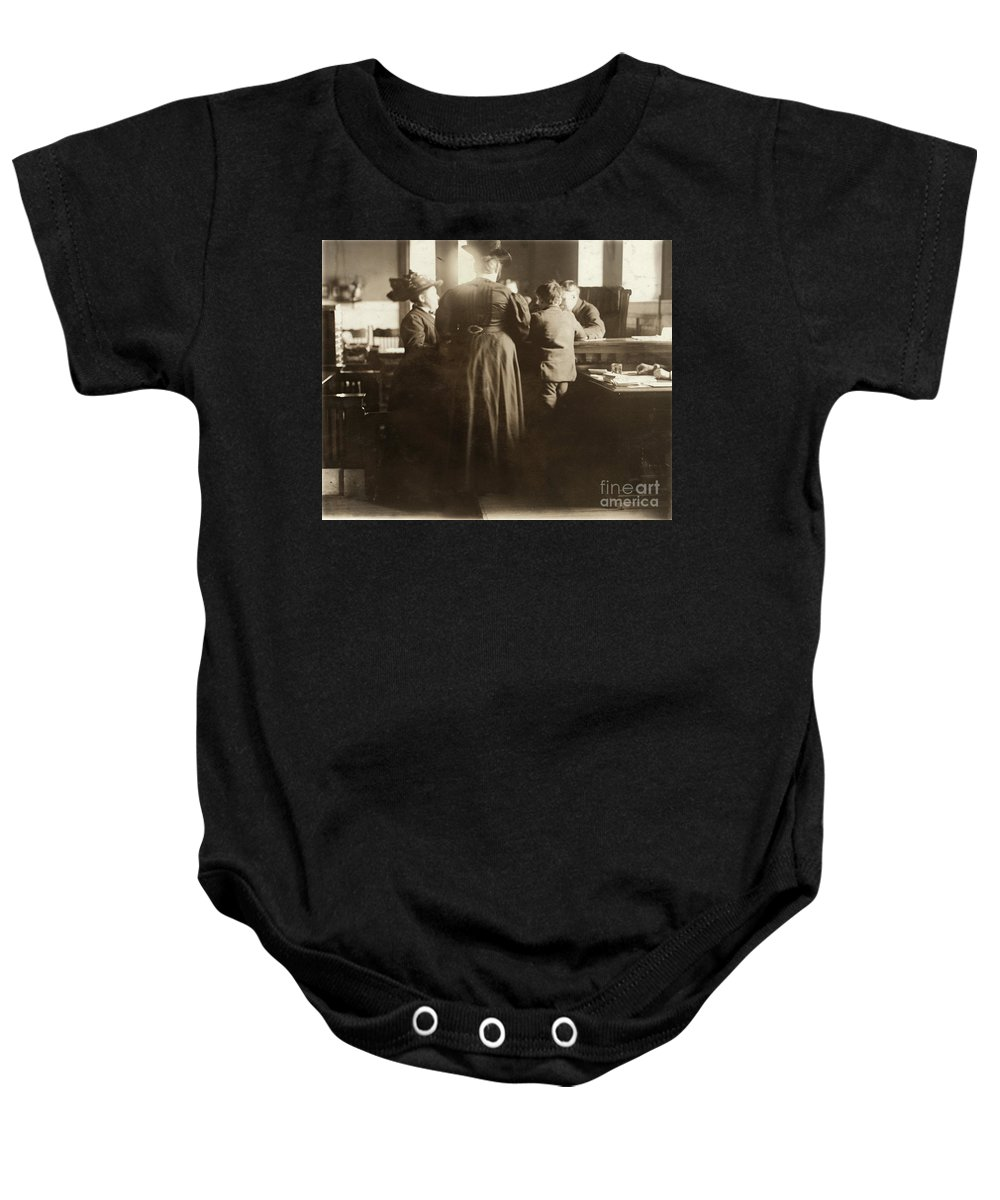 1910 Baby Onesie featuring the photograph Juvenile Court, 1910 by Granger