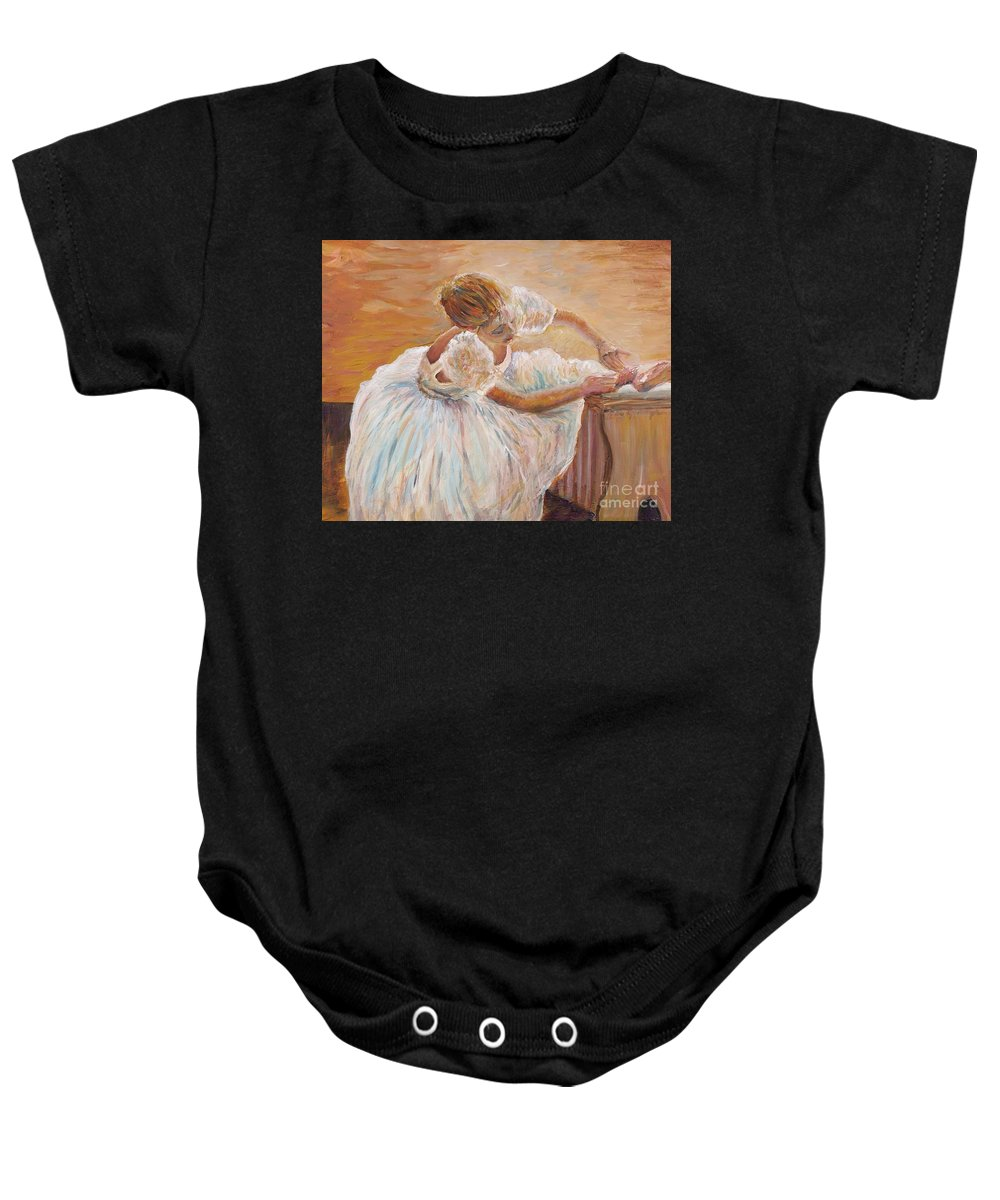 Dancer Baby Onesie featuring the painting Kaylea by Nadine Rippelmeyer