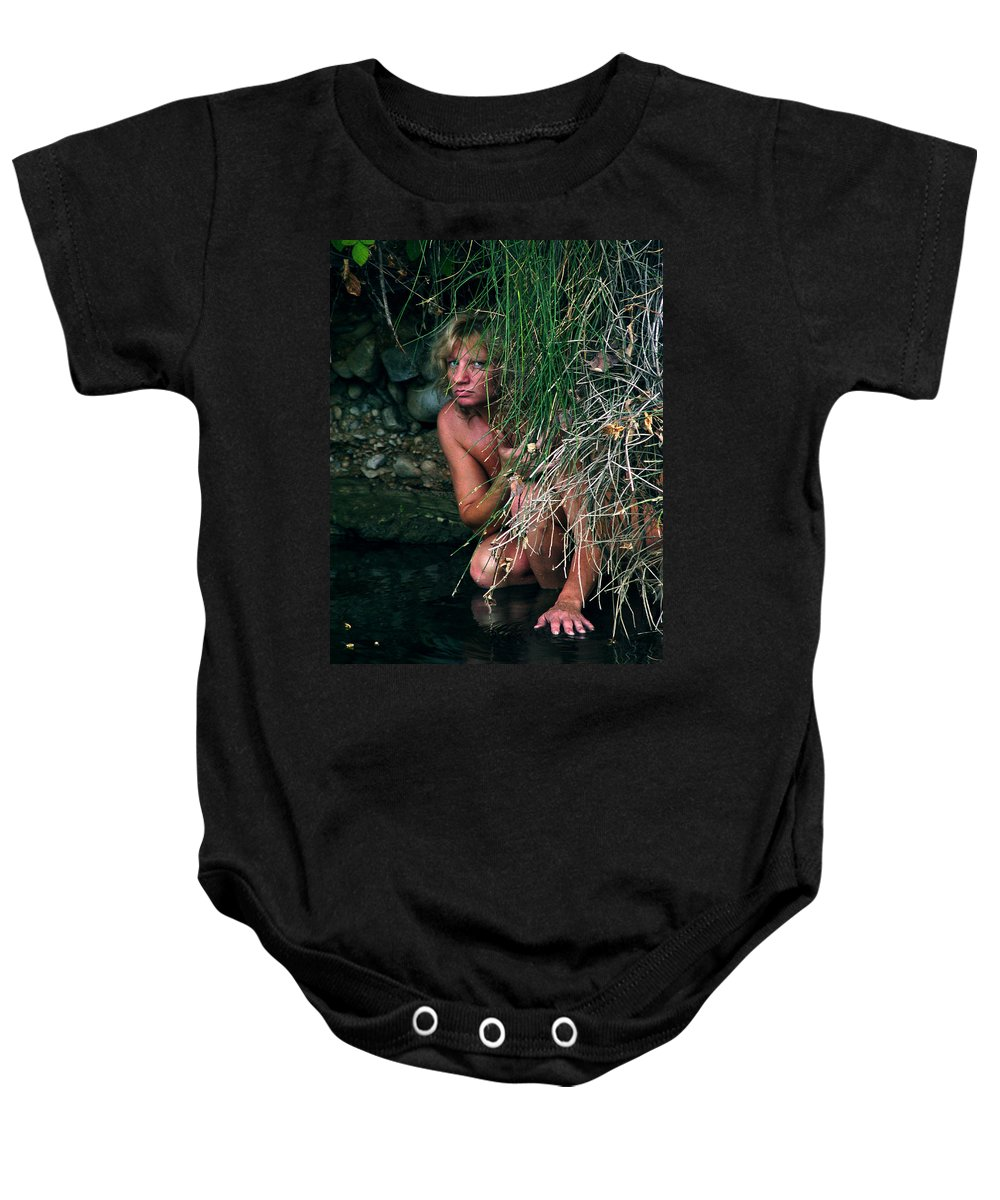 Woman Nude Photo Baby Onesie featuring the photograph Kelly Nude by Peter Piatt
