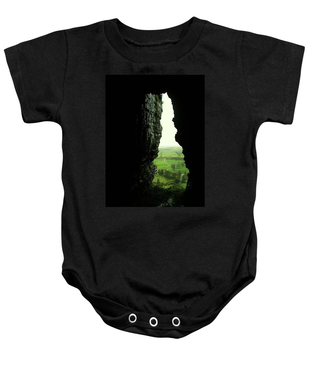 Landscape Baby Onesie featuring the photograph Kesh Caves Co Sligo Ireland by Louise Macarthur Art and Photography