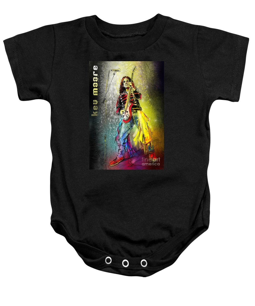 Kev Moore Portrait Baby Onesie featuring the digital art Kev Moore by Miki De Goodaboom