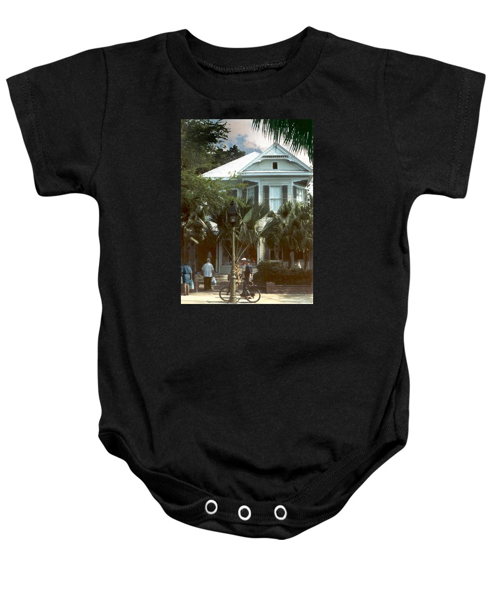 Historic Baby Onesie featuring the photograph Keywest by Steve Karol