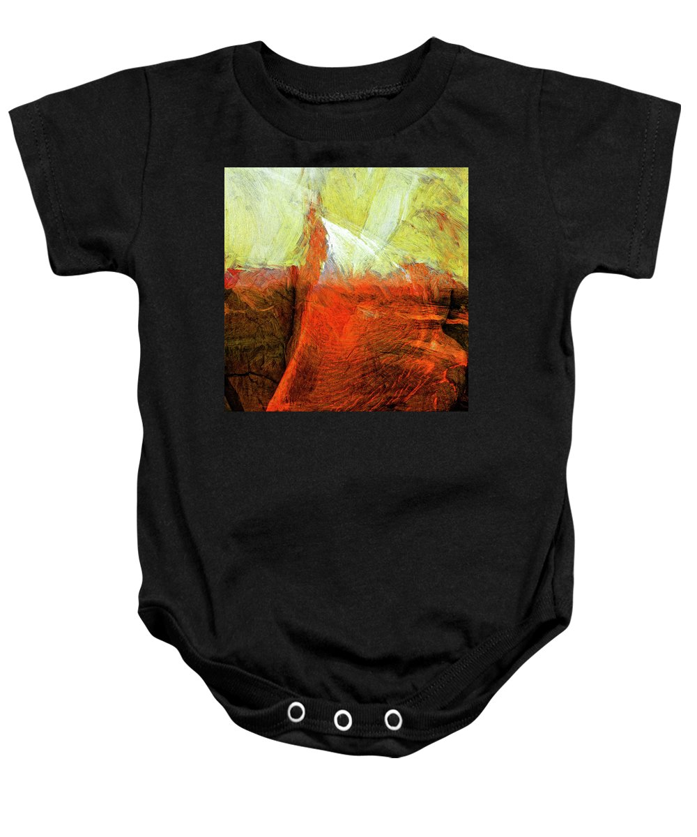 Abstract Baby Onesie featuring the painting Kilauea by Dominic Piperata