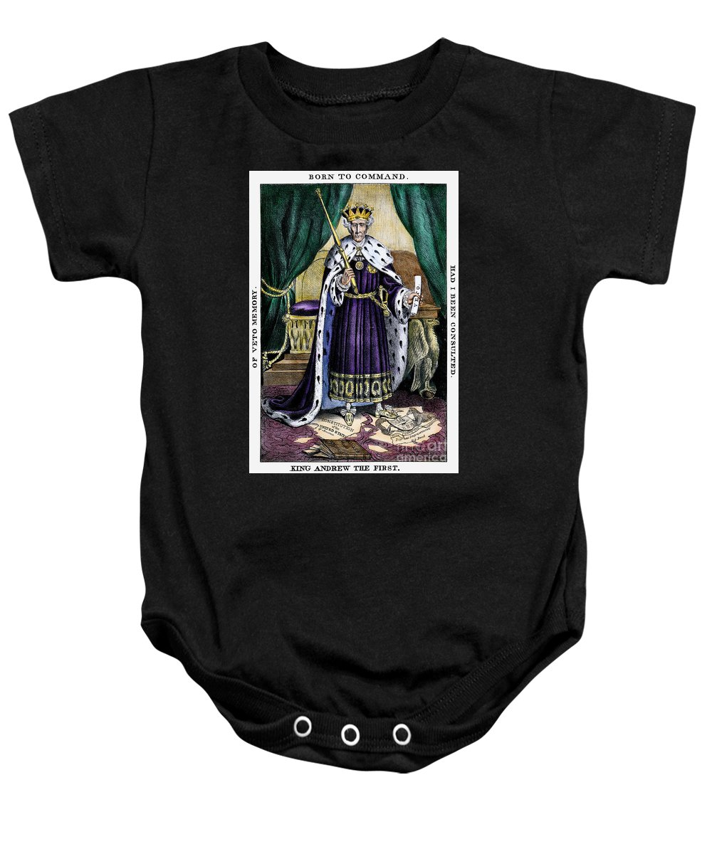 1832 Baby Onesie featuring the photograph King Andrew The First by Granger