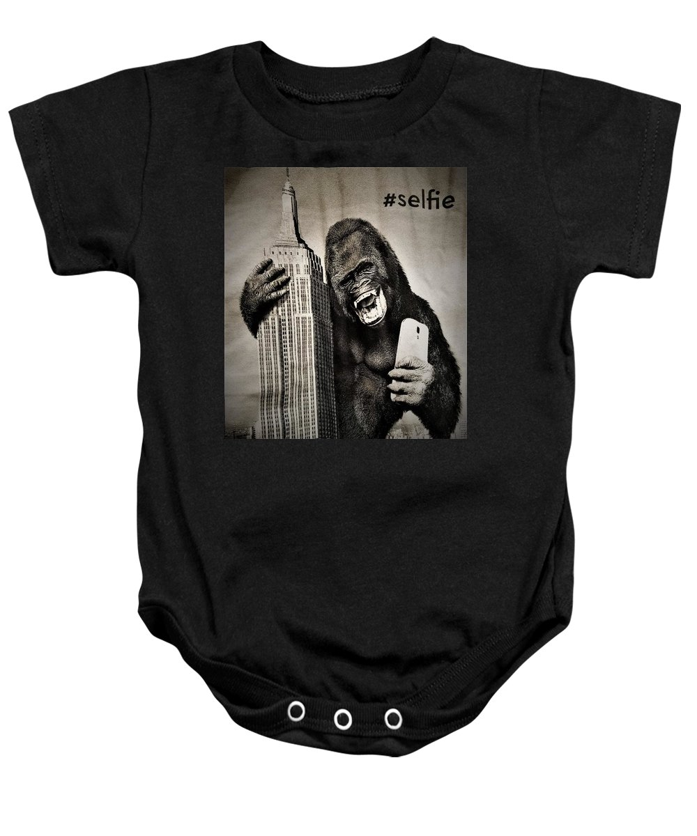 Architecture Baby Onesie featuring the photograph King Kong Selfie by Rob Hans