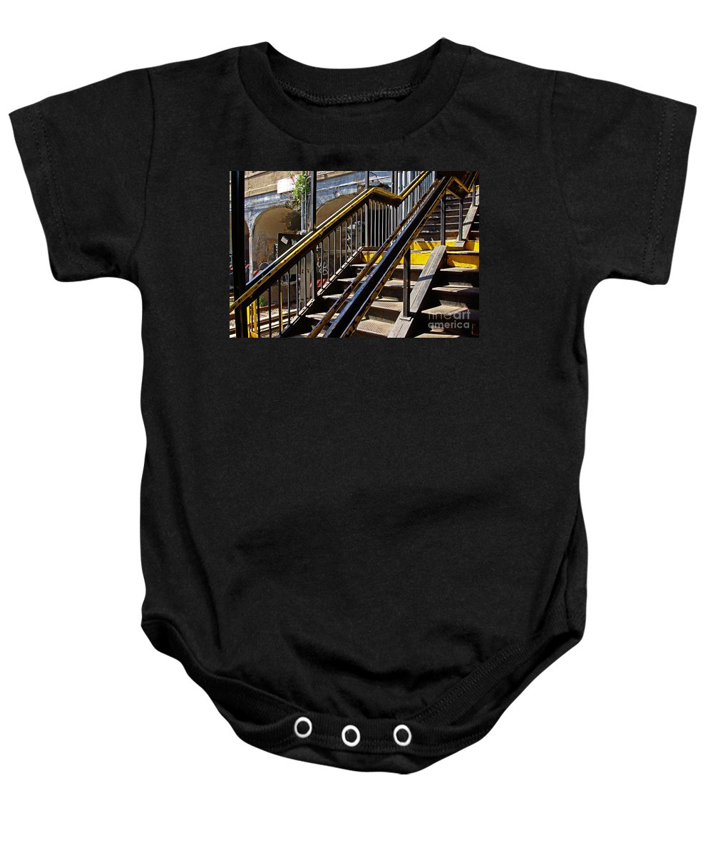 Subway Baby Onesie featuring the photograph Kings Hwy Subway Station In Brooklyn by Zal Latzkovich
