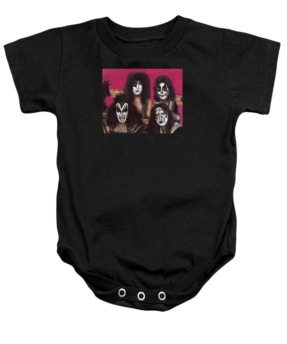 Kiss Painting Baby Onesie featuring the painting Kiss by Rob Payne