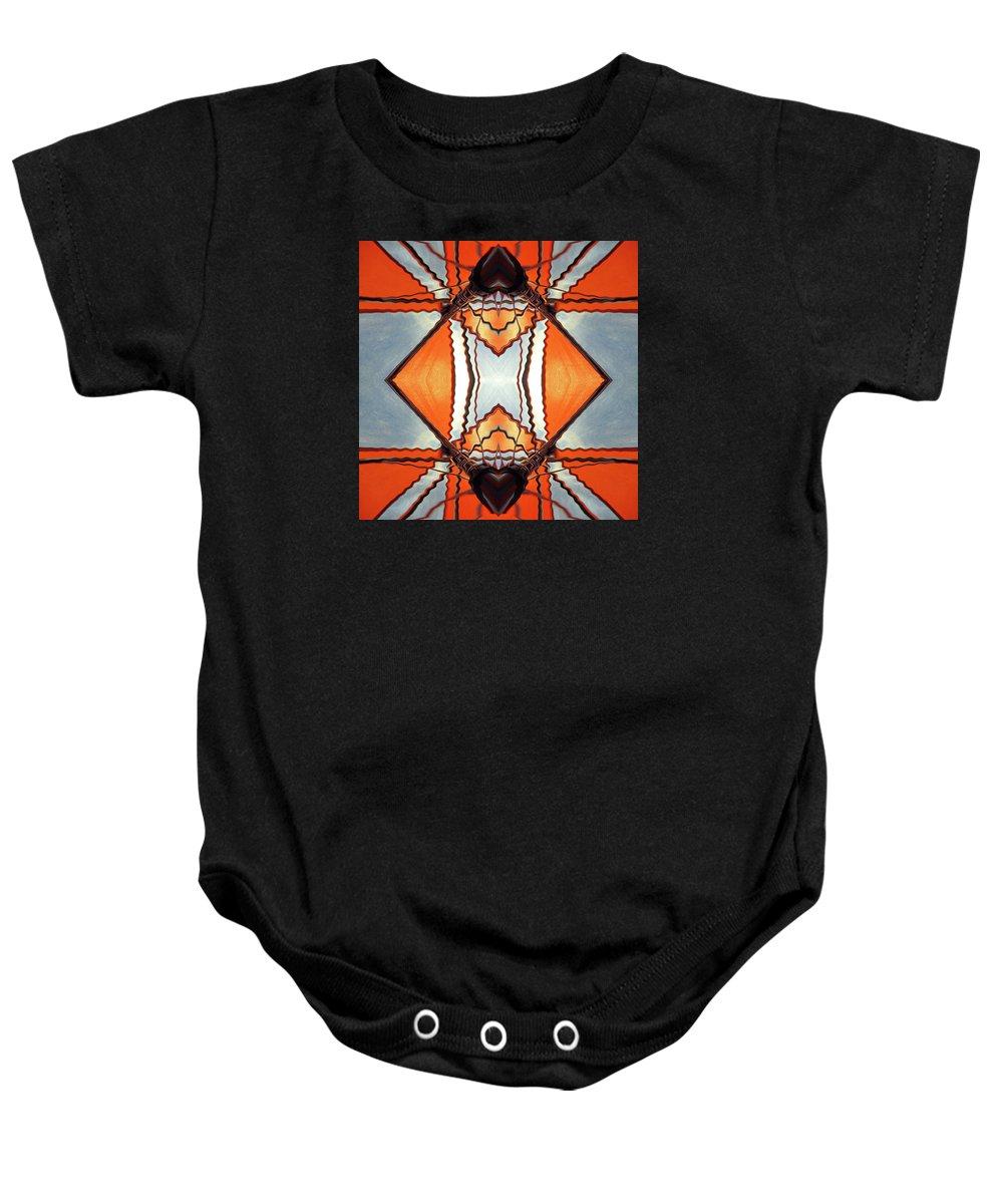 Kite Baby Onesie featuring the digital art Kite by Efrat Fass