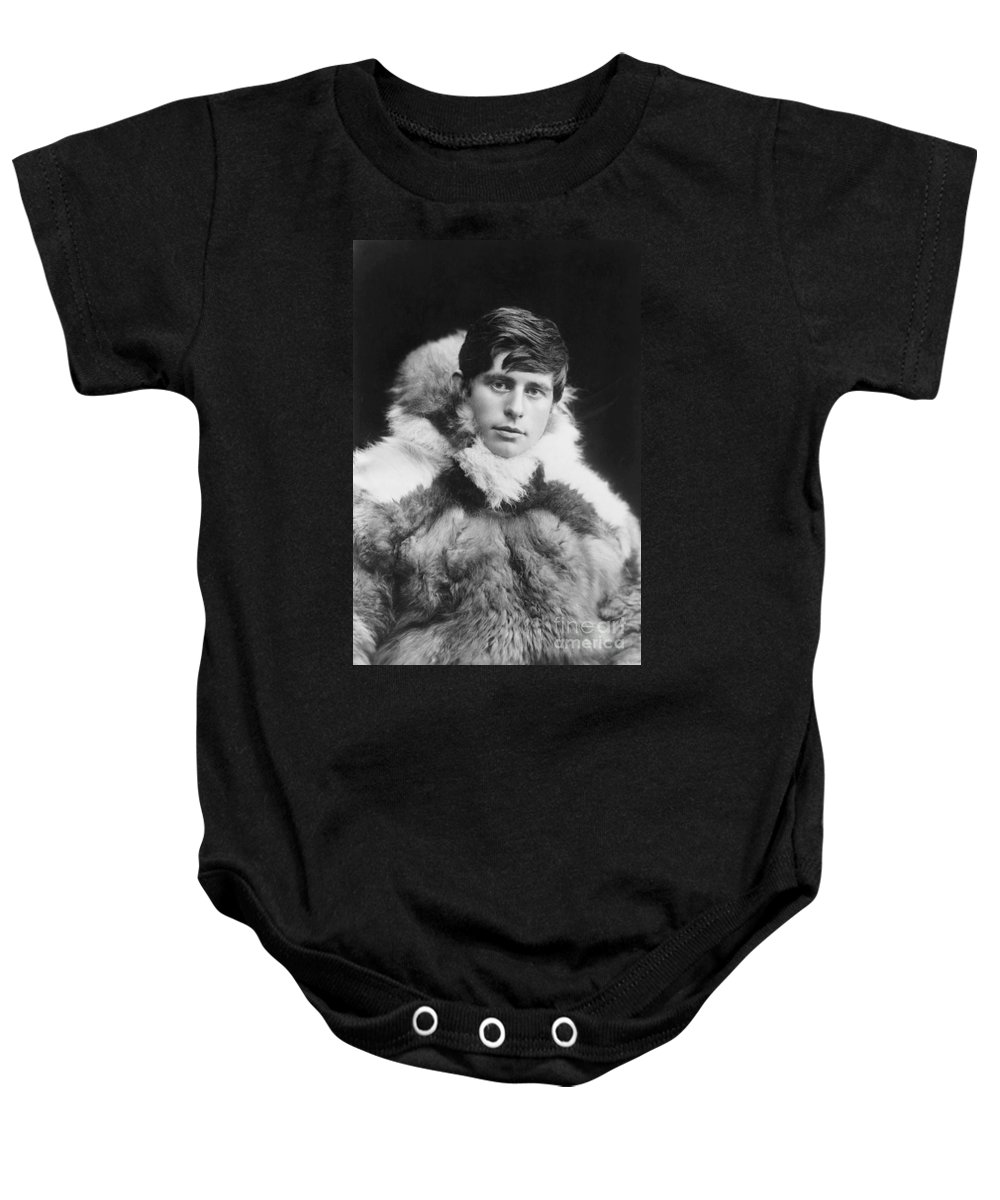 20th Century Baby Onesie featuring the painting Knud Rasmussen (1879-1933) by Granger