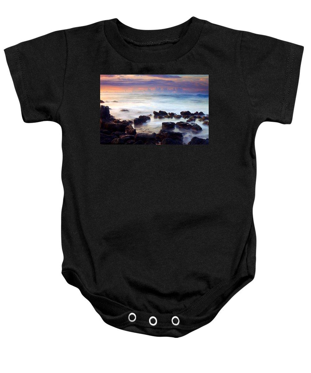 Koloa Baby Onesie featuring the photograph Koloa Sunrise by Mike Dawson