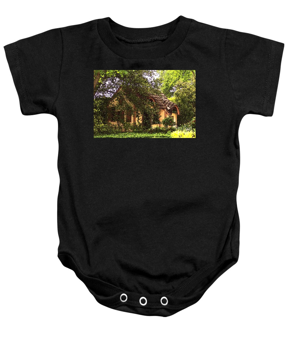 Cottage Baby Onesie featuring the photograph La Maison by Debbi Granruth
