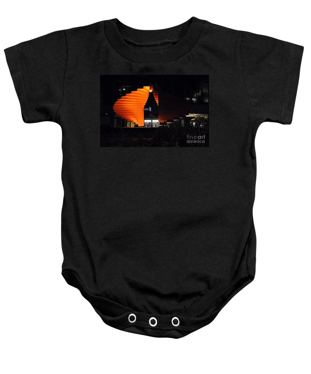 Clay Baby Onesie featuring the photograph L.a. Nights by Clayton Bruster