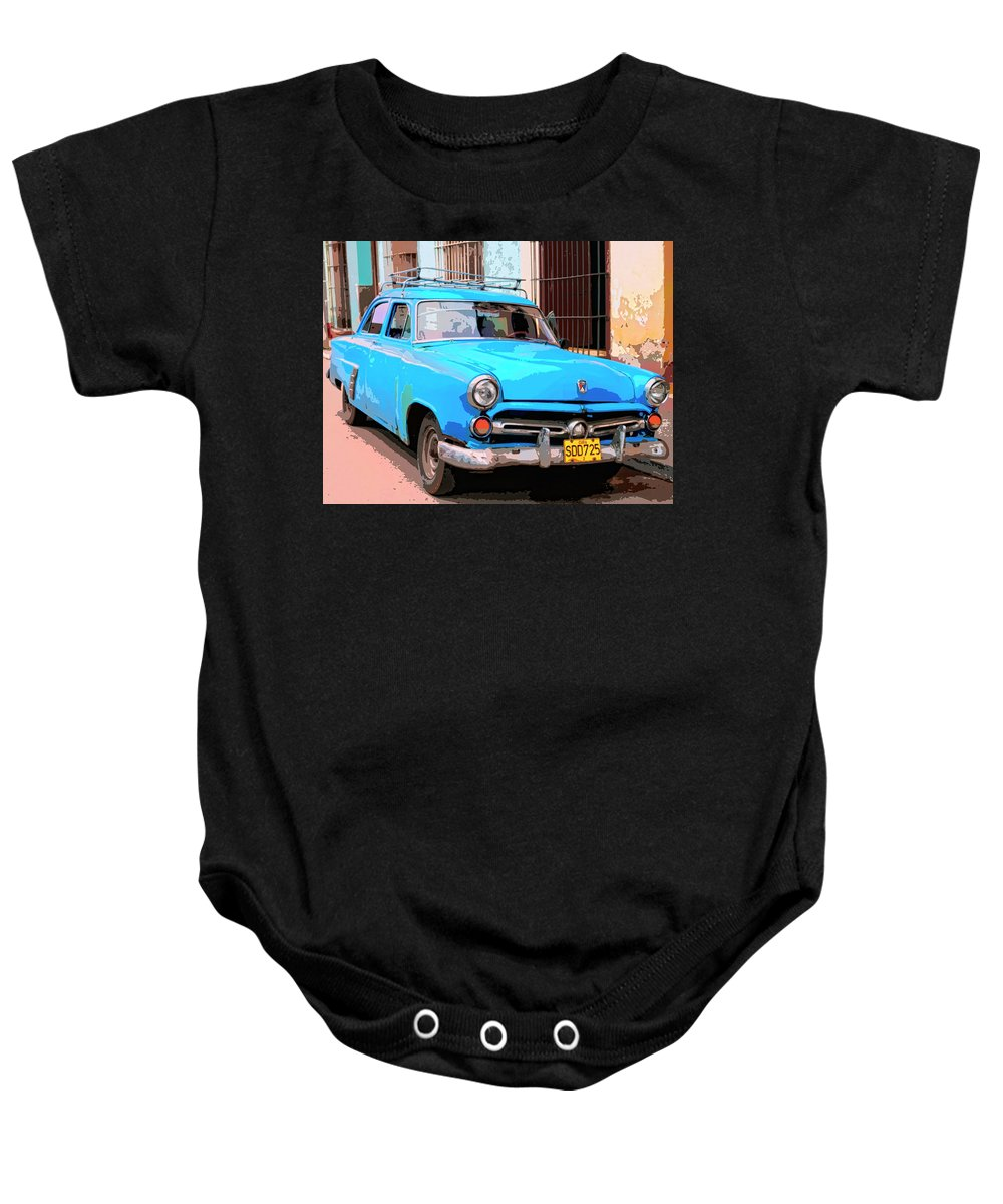 La Victoria Baby Onesie featuring the mixed media La Victoria by Dominic Piperata