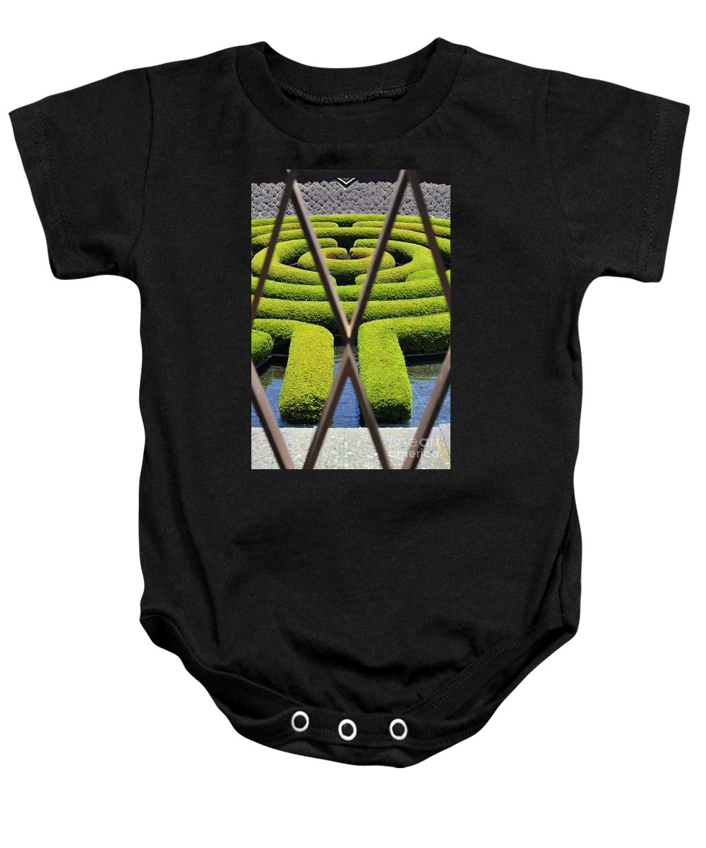 Clay Baby Onesie featuring the photograph Labyrinth At The Getty by Clayton Bruster