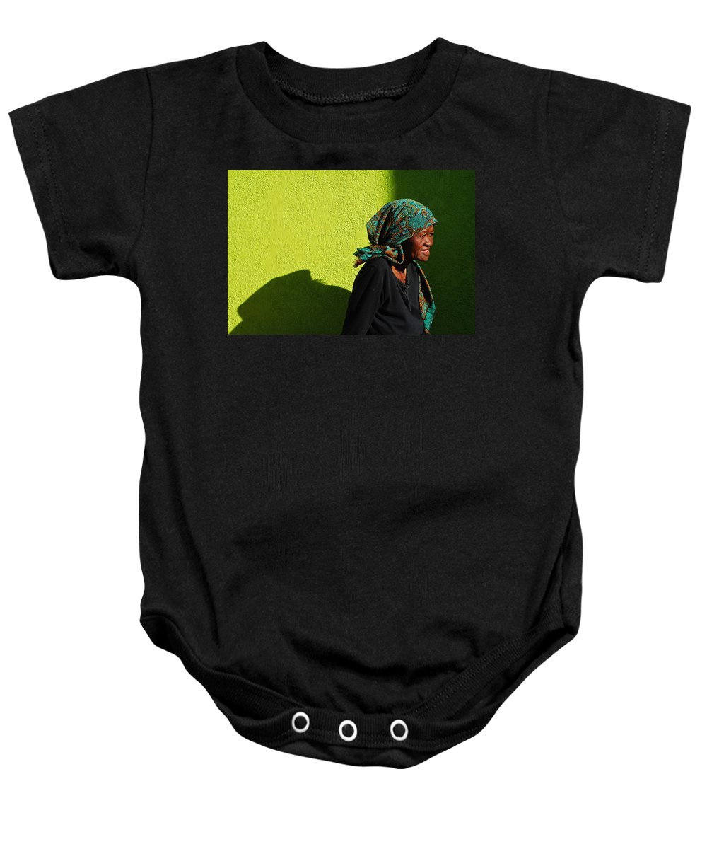 Africa Baby Onesie featuring the photograph Lady In Green by Skip Hunt