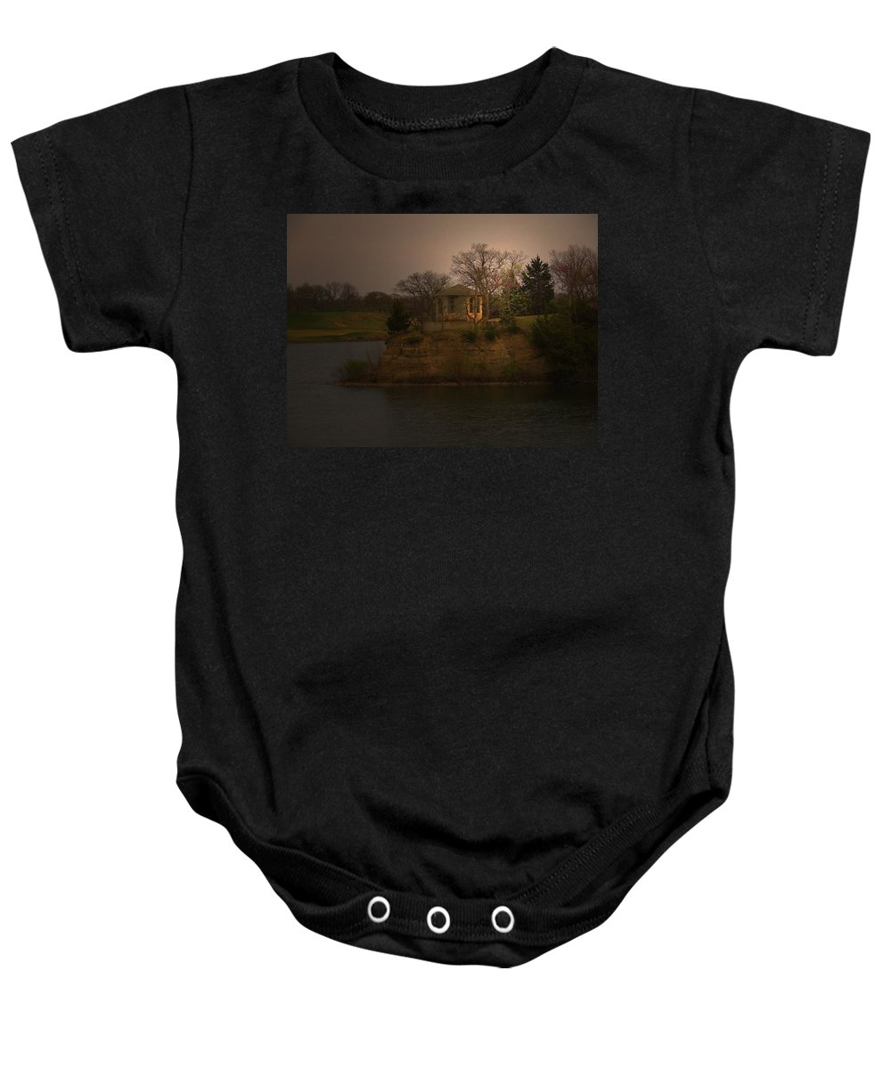 Lake Baby Onesie featuring the photograph Lake House by William Moore