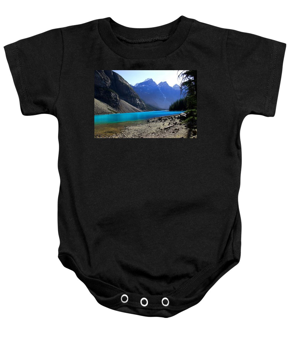 Lake Baby Onesie featuring the photograph Lake Louise by Marcin and Dawid Witukiewicz