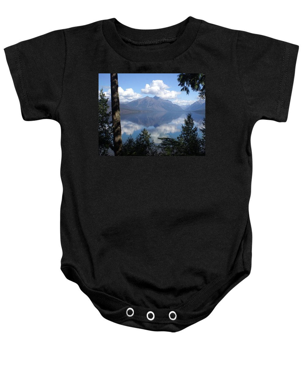 Lake Baby Onesie featuring the photograph Lake Mcdonald Glacier National Park by Marty Koch
