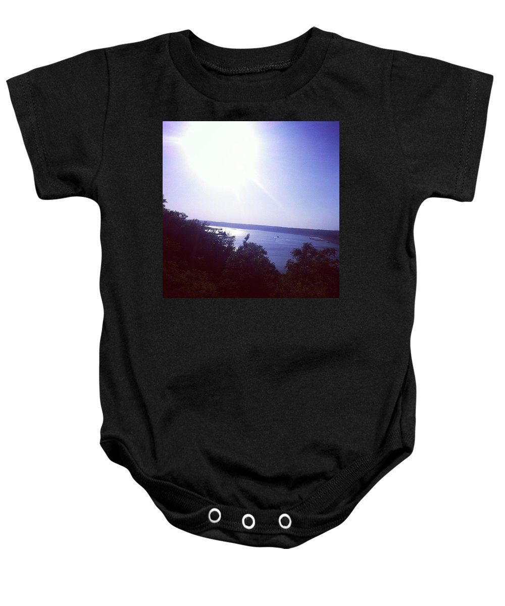 Lake Baby Onesie featuring the photograph Lake Travis by Claire Kenney