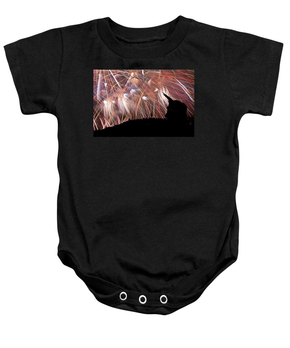 Seattle Baby Onesie featuring the photograph Lake Union July 4th B294 by Yoshiki Nakamura