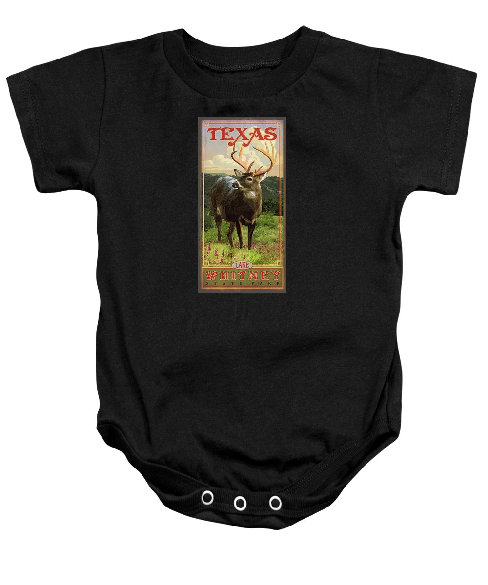 Lake Whitney State Park Baby Onesie featuring the digital art Lake Whitney State Park by Jim Sanders