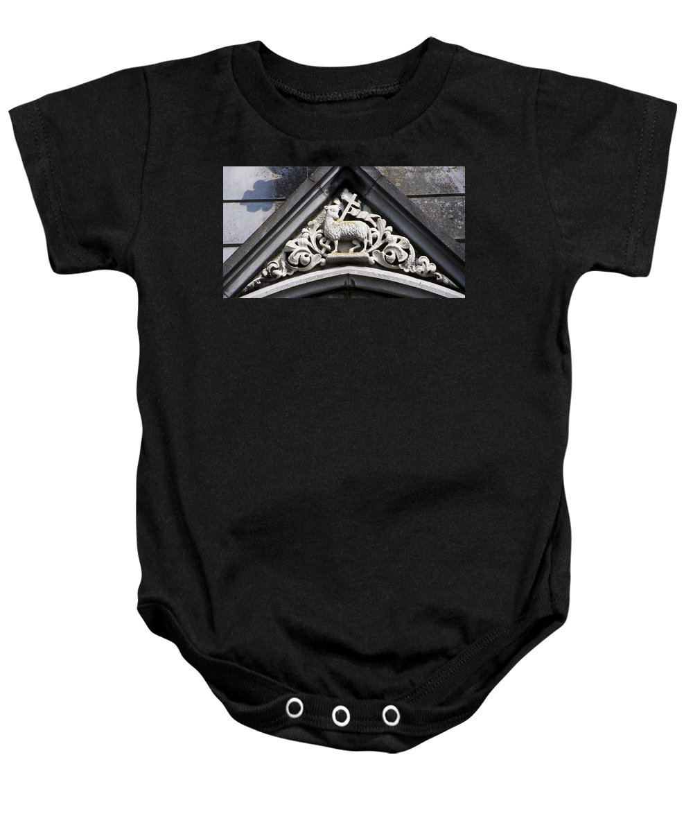 Ireland Baby Onesie featuring the photograph Lamb of God by Teresa Mucha