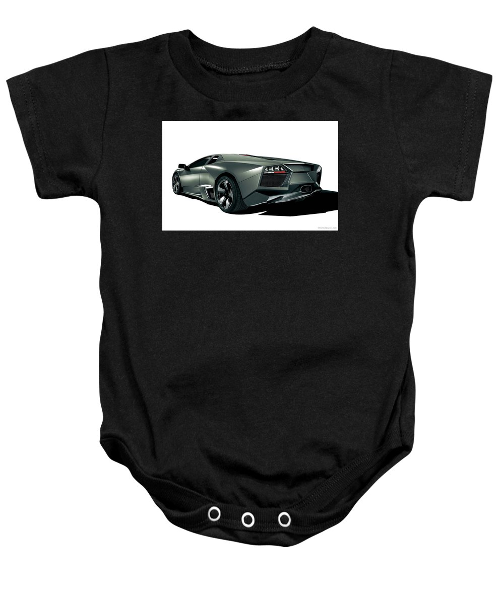 Baby Onesie featuring the digital art Lamborghini Reventon 2 by Alice Kent