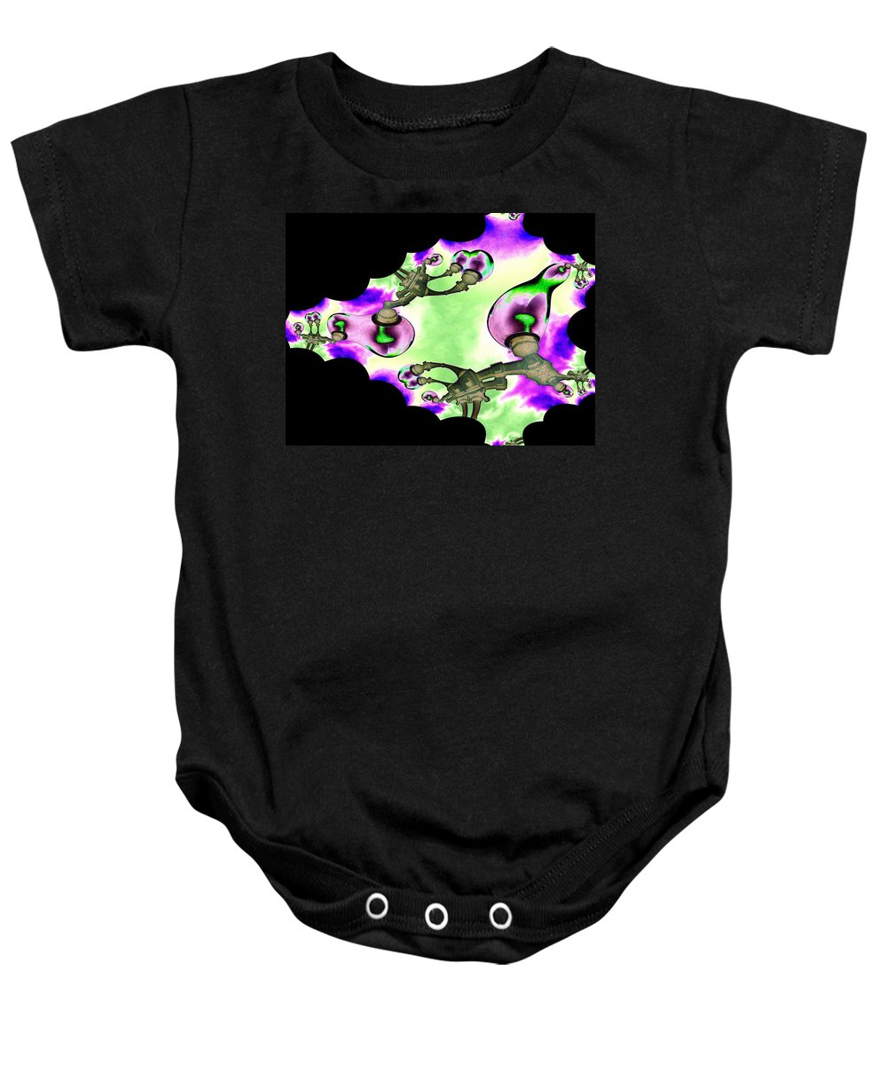 Lamps Baby Onesie featuring the digital art Lamps by Tim Allen