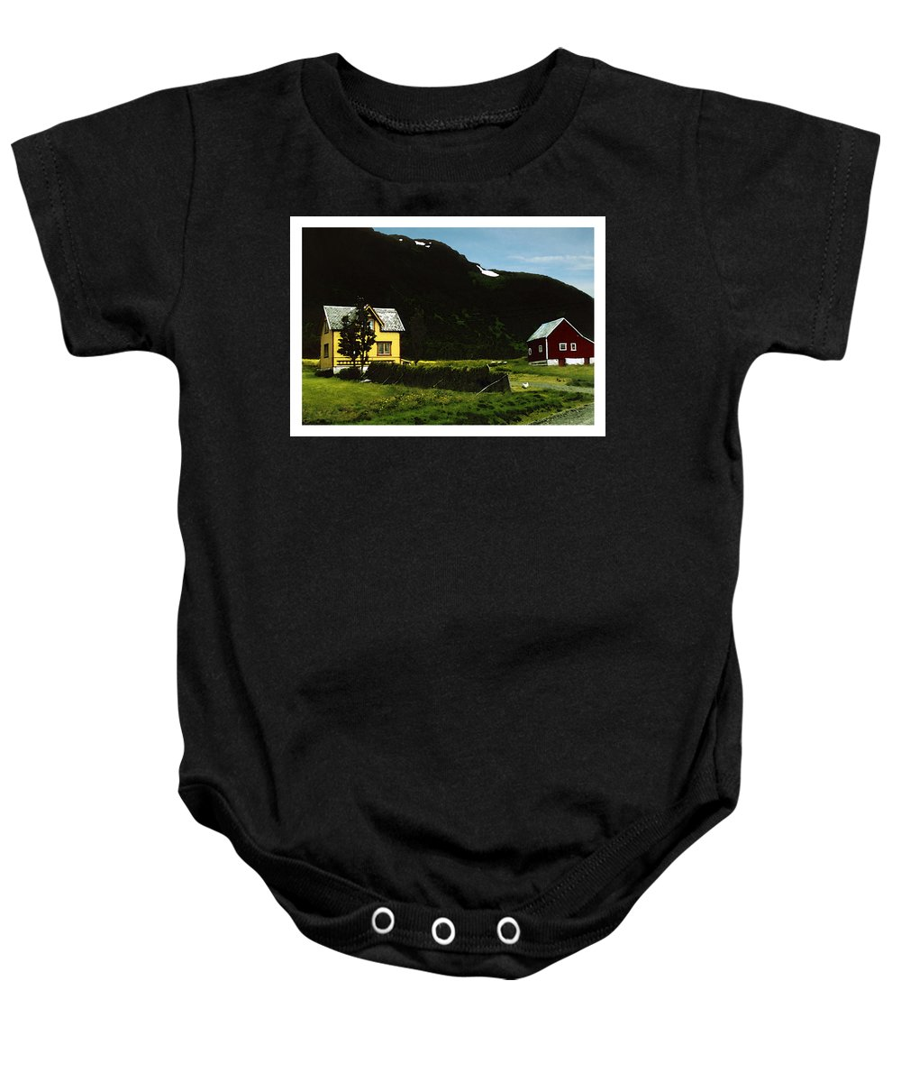 House Baby Onesie featuring the digital art Langsund by Are Lund