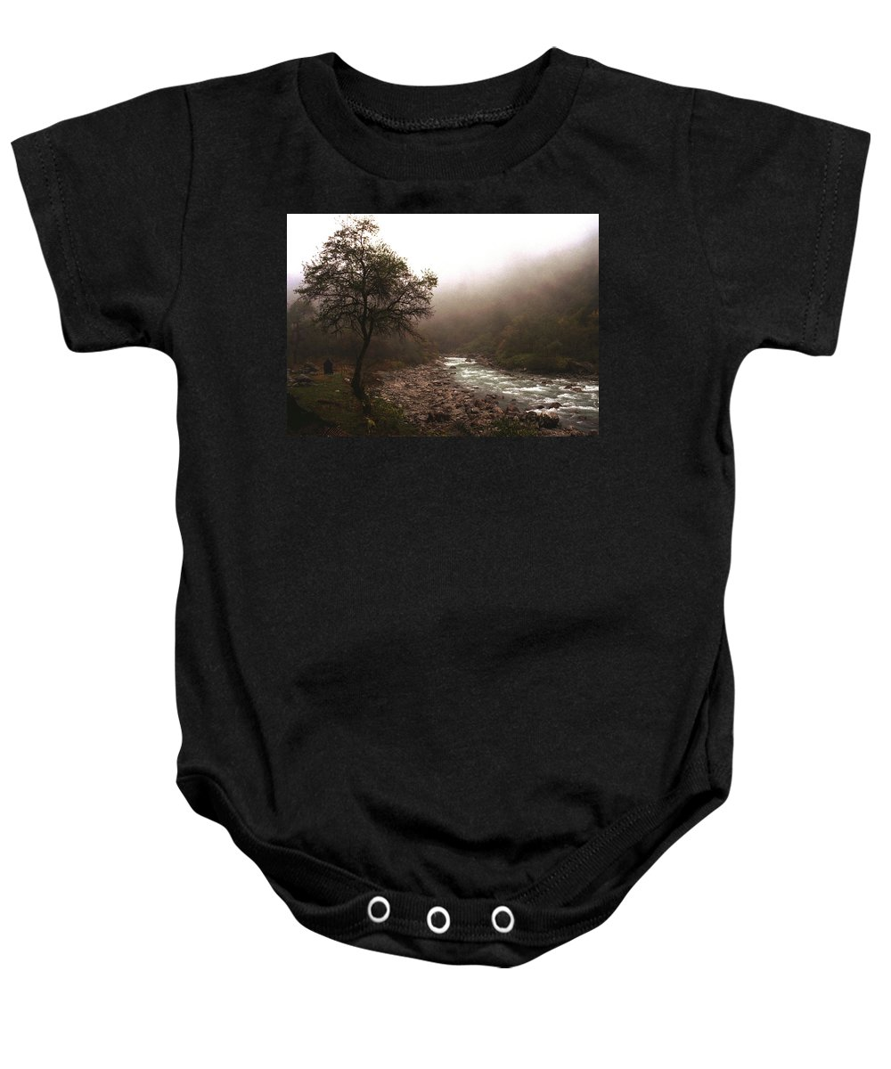 Tree Baby Onesie featuring the photograph Langtang Morning by Patrick Klauss