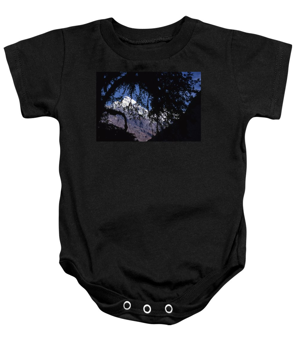 Langtang Baby Onesie featuring the photograph Langtang by Patrick Klauss
